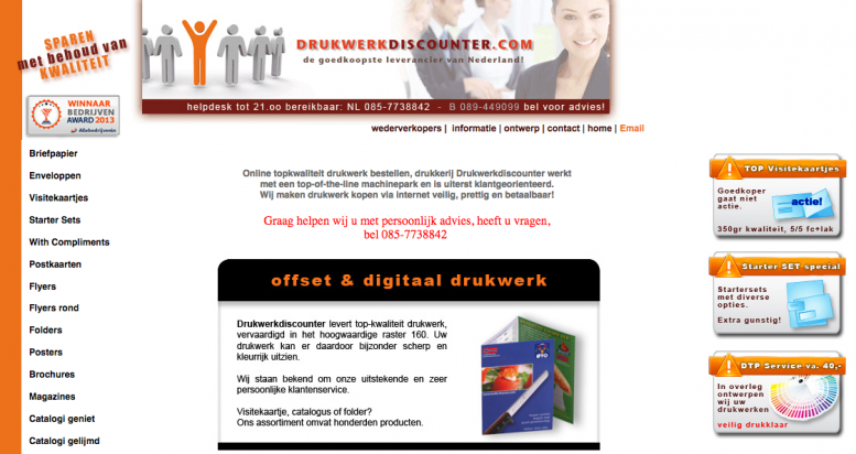 relaunch drukwerkdiscounter.nl website