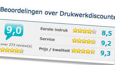 Drukkerij met zeer goede reviews: Drukwerkdiscounter.com