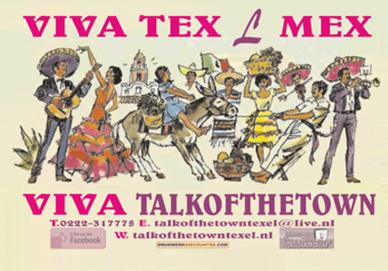 Placemat goedkoop drukken voor Talk of the Town Texel. Goedkoop drukwerk voor Horeca ondernemers.