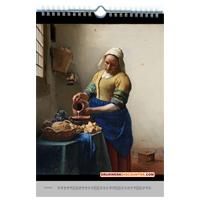 Bedrijfskalender met kunst 2018.  Rembrandt van Rijn - Het melkmeisje