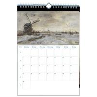 Bedrijfskalender als maandkalender cq. wandkalender 2018 met kunst.